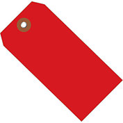 "4-3/4""x2-3/8"" Plastic Shipping Tag, Red, 100 Pack"