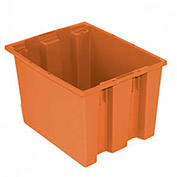 "Nest & Stack Tote, 19-1/2""L x 15-1/2""W x 10""H, Orange - Pkg Qty 6"