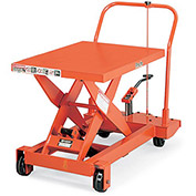 "PRESTO Mobile Manual Scissors Lift Tables - 1000-Lb. Capacity - 24""Wx36""D Platform"