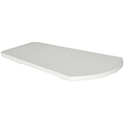 "Recycled Plastic Arm Table, White, 24-1/2""L x 16-1/4""W x 1-7/8""H"