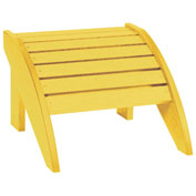 "Recycled Plastic Footstool, Yellow, 18""L x 17""W x 12""H"