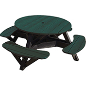 "Generations 51"" Round Picnic Table, Black & Green"
