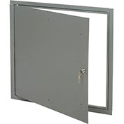 "Multi Purpose Metal Access Panel, Key Lock, 24""Wx24""H, Gray"
