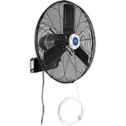 "24"" Outdoor Misting Oscillating Fan, Wall Mounted, 3/10 HP, 7,700 CFM"