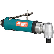 "Dynabrade 0.7HP Right Angle Die Grinder, 18,000 RPM, Geared, Rear Exhaust, 1/4"" & 6MM Collets"