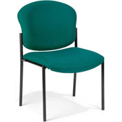 Deluxe Armless Stack Chair, Teal