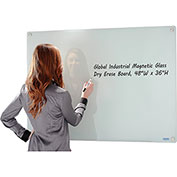 Glass Whiteboard, Magnetic - 48 x 36 - White