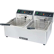Countertop Fryer, Electric, Double Tank, 120V