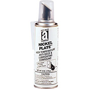 NICKEL PLATE™ Anti-Seize w/Graphite, 2600°F, 6oz. Pressure Can w/Applicator 6/Case - Pkg Qty 6