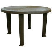 "Brentwood Round Table, 48""W, Earth Brown"
