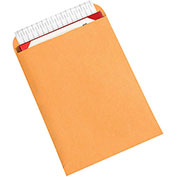 "Redi-Strip Flat Self-Seal Envelopes - 9x12"" - Case of 500 - Kraft"