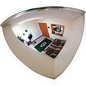 "Quarter Dome Mirror, 36"" Diameter - Pkg Qty 2"