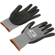 PIP G-Tek® MaxiFlex Nitrile Coated Knit Nylon Gloves, Gray/Black, Small, 12 Pairs