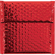 "7""x6-3/4"" Red Glamour Bubble Mailer, 72 Pack"