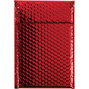 "7-1/2""x11"" Red Glamour Bubble Mailer, 72 Pack"