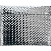 """13-3/4""""x11"""" Silver Glamour Bubble Mailer, 48 Pack"""
