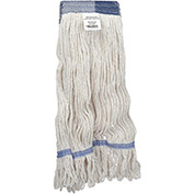 Medium Blend Looped Mop Head, Wide Band, White