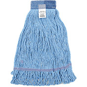 Small Looped Mop Head, Wide Band, Blue