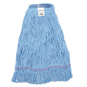 "39""L x 6""W Medium Blue Looped Mop Head, Narrow Band"