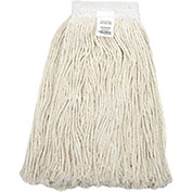 16 oz. Cotton Cut-End Mop Head, 4Ply, Wide Band, White