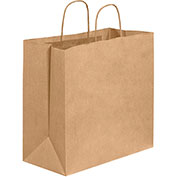 "13""x7""x13"" Shopping Paper Bags Kraft 250 Pack"