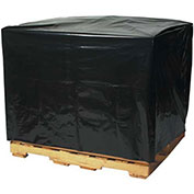 "Black Pallet Covers - 48x42x66"" - 3 Mil - Case of 50"