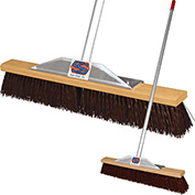 "24"" Maroon Poly Super Sweeper Broom"
