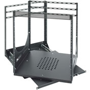 Sliding Rotating Rack, Steel, Black
