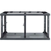 2-Bay Technology Credenza Frame, Steel, Black