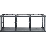 3-Bay Technology Credenza Frame, Steel, Black