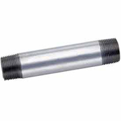 "1-1/2"" x 5-1/2"" Galvanized Steel Pipe Nipple, Lead Free, 150 PSI"
