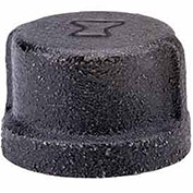 "Anvil 3/4"" Black Malleable Cap"