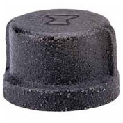 "2"" Black Malleable Cap, Lead Free, 150 PSI"