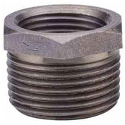 "3/4"" X 1/2"" Black Malleable Hex Bushing, Lead Free, 150 PSI"