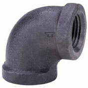 "2"" Black Malleable 90 Degree Elbow, Lead Free, 150 PSI"