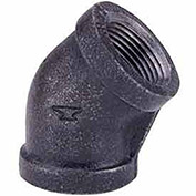"1-1/4"" 45 Degree Elbow, Black Malleable, 150 PSI, Lead Free"