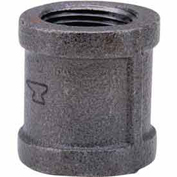 """1-1/2"""" Black Malleable Coupling, Lead Free, 150 PSI"""