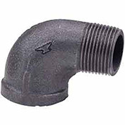 "1-1/4"" Street 90 Degree Elbow, Black Malleable, 150 PSI, Lead Free"