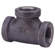 "2"" Black Malleable Tee, Lead Free, 150 PSI"