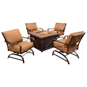 Summer Night 5-Piece Outdoor Patio Set with Fire Pit