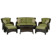 Strathmere 6-Piece Outdoor Wicker Patio Set