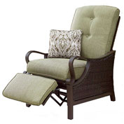 Ventura Outdoor Luxury Recliner with Pillow