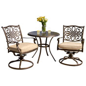 Traditions 3-Piece Outdoor Bistro Set