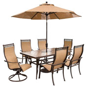 Monaco 7-Piece Outdoor Dining Set with Umbrella