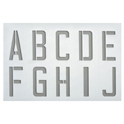 A to Z Plastic Stencil, 0.5mm Thickness, Stencil Includes 11 Kits