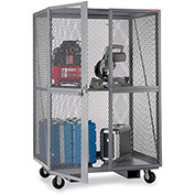 "RELIUS SOLUTIONS Open-Mesh Security Trucks - 60""Wx24""Dx72""H - Gray"