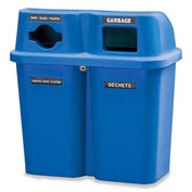 Bullseye Duo Recycling System, (2) 30-Gallon Capacity Containers, Sandstone