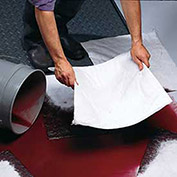 Spill Clean-Up Sorbent Pads, Polypropylene Fill