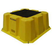 "1 Step Nestable Plastic Step Stand - Yellow 25""W x 25""D x 10-1/2""H"