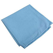 """Microworks Microfiber Towel for Glass/Mirror 15"""" x 15"""", Blue Suede 12/Pack"""